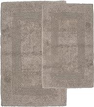 Cotton Bath Mat Set- 2 Piece 100 Percent Cotton Mats- Reversible, Soft, Absorbent and Machine Washable Bathroom Rugs by La...