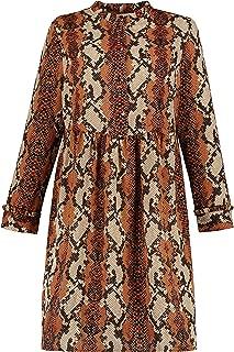 Studio Untold Women's Plus Size Snake Print Empire Stretch Dress 726327