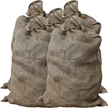 GardenMate Pack of 5 Universal large Hessian Jute Sacks - Each bag 105x60 cm - Large hessian bags made of 200gsm fabric - Burlap sack suitable for potatoes, vegetables, plant protection and decoration
