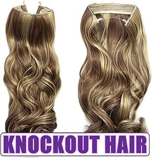 Knockout Hair 20-Inch Fiber Wavy Hair Extensions, 150 Grams,  #16/18 - Medium Cool Blonde/Medium Cool Brown Mix