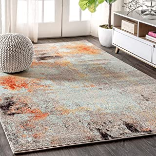 JONATHAN Y CTP104 Contemporary POP Modern Abstract Vintage Cream/Orange 5 ft. x 8 ft. Area Rug
