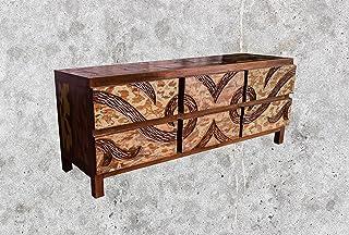 Mienloco (TV16) - Cómoda de madera de teca para televisor