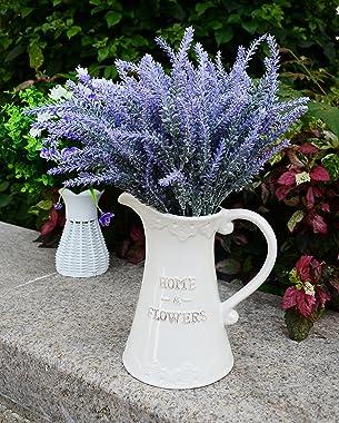 Aplstar Artificial Flowers Lavender Bouquet in Purple Artificial Plant for Home Decor, Wedding,Garden,Patio Decoration,4 Bund