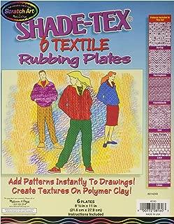Melissa & Doug Scratch Art Shade-Tex Rubbing Plates - Textiles 6-Pack
