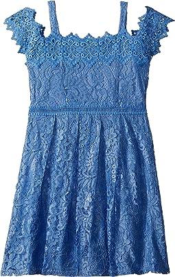 Us Angels - Cold Shoulder Lace Dress (Big Kids)