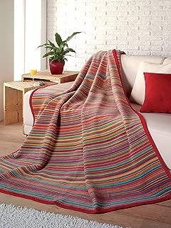 IBENA Sunset Stripe Oversized Throw Blanket