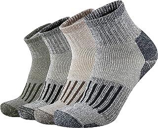 ONKE Men's Merino Wool Moisture Wicking Control Outdoor Ankle Running Hiking Cushion Low Cut Socks