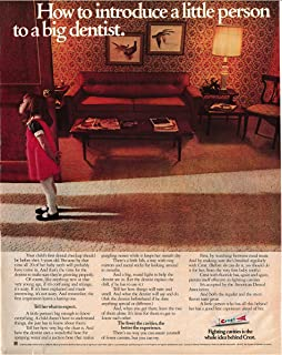 1972 Crest Toothpaste-Little Girl-1st Dentist Apt-Original 13.5 * 10.5 Magazine Ad
