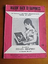 song sheet WALKIN' BACK TO HAPPINESS, Helen Shapiro 1961