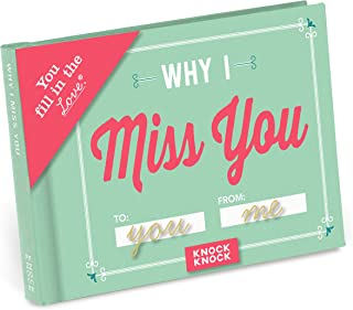 Knock Knock Why I Miss You Fill in the Love Book Fill-in-the-Blank Gift Journal, 4.5 x 3.25-inches