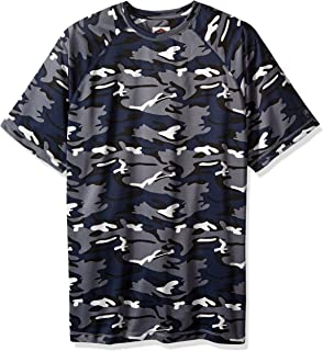 Vintage by Majestic International Men's Big and Tall Camo Athleisure Short Sleeve Raglan Top