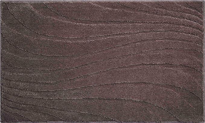 Antracite 50x60 cm Linea Due TERAZZO Tappeto per Il Bagno Poliestere MAGICSOFT