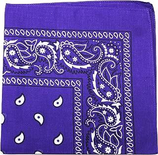 Extra Large Purple Cotton Bandana Headscarf Plain Solid 27 inch