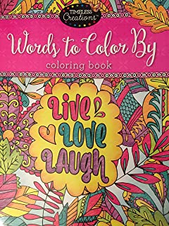 1 Timeless Creations Words To Color By Live, Love And Laugh 12'' X 12''