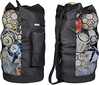 Fitdom Heavy Duty XL Soccer Mesh Equipment Ball Bag w/Adjustable Shoulder Strap Design for Coach. with an Over-Sized Front...