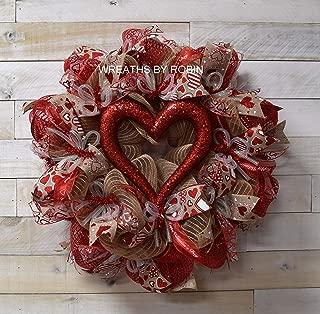 Valentine Heart Wreath, Valentine's Day Wreath (3655)