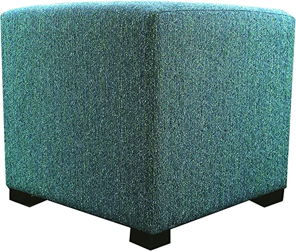 MJL Furniture Designs Upholstered Cubed Square Olivia Series Ottoman 17 X 19 X 19 Teal
