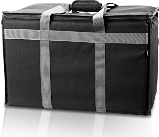 Food Delivery Bag - Premium Commercial Grade made for full size chafing steam trays or pans - Thick insulation cooler and hot food bags with sturdy padded handles - Insulated food carrier catering bag