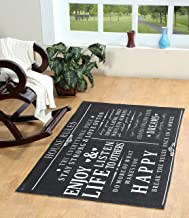 Chesapeake Merchandising House Rules Printed Typography Cotton Rug, Charcoal