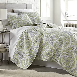 Southshore Fine Linens - The Pure Melody Collection - Quilts Sets, 3 Piece Set, Full/Queen, Green