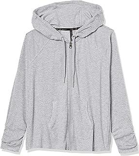 Women's Ruched Long Sleeve Zip Front Hoodie
