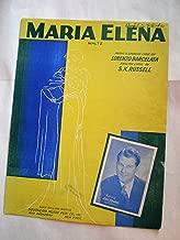 MARIA ELENA LORENZO BARCELATA 1941 SMALL TEAR SHEET MU SHEET MUSIC 207