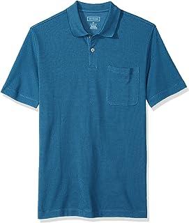 Men's Short Sleeve Jaquard Stripe Polo Shirt