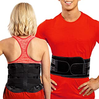 Lower Back Brace by FlexGuard Support - Lumbar Support Waist Backbrace for Back Pain Relief - Compression Belt for Men and...