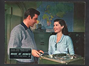 MOVIE POSTER: House of Secrets Lobby Card-1956-Michael Craig and Barbara Bates.