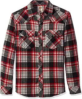 Men's Western Flannel Shirt, Black