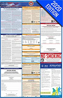 2020 Georgia Labor Law Poster – State, Federal, OSHA Compliant – Single Laminated Poster