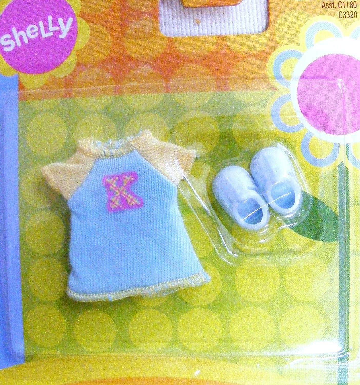 Kelly Doll Shelly Doll Summer Signature K Dress with Light Blau schuhe by Kelly Doll Fashions
