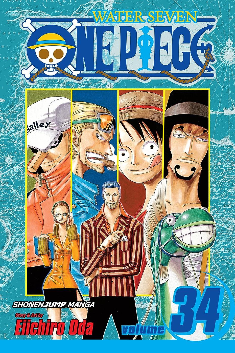 手限られた苦悩One Piece, Vol. 34: The City of Water, Water Seven (One Piece Graphic Novel) (English Edition)