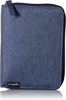 RFIDsafe LX150 Anti-Theft RFID Blocking Passport Wallet, Denim