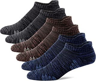 u&i Men's Performance Cushion Cotton Low Cut Ankle Athletic Socks (6-Pack/12-Pack)