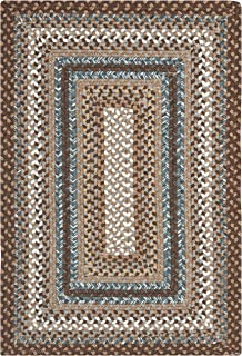 Safavieh Braided Collection BRD313A Hand Woven Brown and Multi Area Rug (2' x 3')
