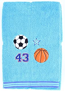 Jay Franco All-Stars Sports Embroidered Oversized Bath Towel - 100% Cotton - 34