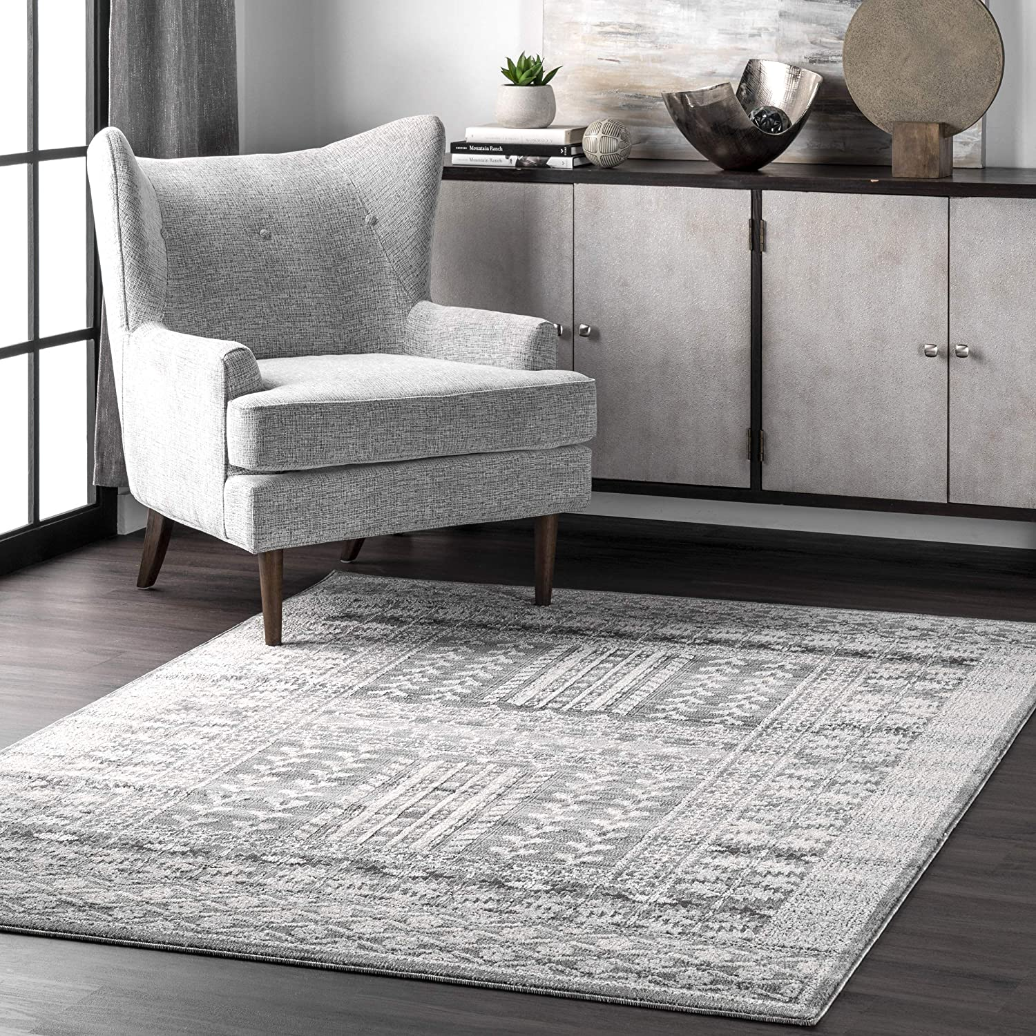 nuLOOM Melina Distressed Grecian All items free shipping Area Rug Grey x NEW before selling ☆ 5