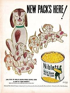 1949 Green Giant Corn Niblets Can -Original 13.5 * 10.5 Magazine Ad-Fresh Off Cob