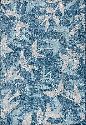 "Safavieh Courtyard Collection CY8841-36821 Indoor/ Outdoor Area Rug, 2' x 3' 7"", Navy/Blue"