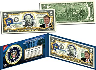 DONALD TRUMP * Presidential Series #45 * Official Legal Tender $2 Bill w/Folio