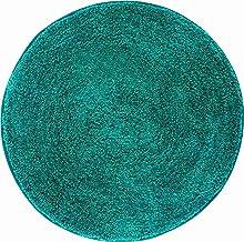 Grund Bath mat 32 mm, Ultra Soft, Non-Slip, Washable Rug, 100% Polyacryl, ÖKO-TEX Certified, LEX, Circle mat 100 cm, Turqu...