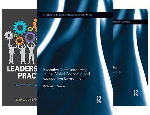 Routledge Studies in Leadership Research (16 Book Series)