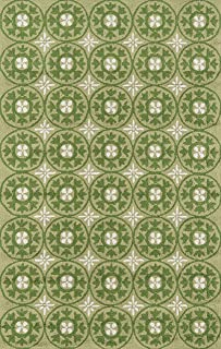 Momeni Rugs Veranda Collection, Contemporary Indoor & Outdoor Area Rug, Easy to Clean, UV protected & Fade Resistant, 2' x 3', Grass Green