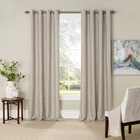 Amazon Com Eclipse Blackout Curtains For Bedroom Newportinsulated Darkening Single Panel Grommet Top Window Treatment Living Room 52 X 84 Bay Leaf Home Kitchen
