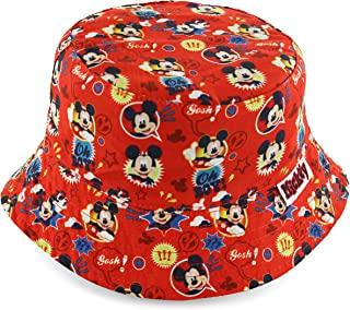Mickey Mouse Boys' Red Bucket Hat [6014]
