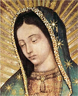 Our Lady of Guadalupe, Half Body Portrait,Original - Religious Wall Art Print Poster Laminated Unframed Decore 8x10""