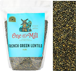 Sponsored Ad - One in a Mill French Green Le Puy Dry Lentils 4lb Bulk Resealable Bag | All-Natural Plant-Based Protein for...