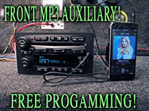 UNLOCKED! CHEVY GM GMC 6 CD CHANGER STEREO w/MP3 AUX AUXILIARY INPUT, CABLE! - SIERRA TAHOE YUKON SUBURBAN SILVERADO DENALI 03 04 05 06 - TRUCK SUV - P/Ns: 15917881, 15927261, 15196057 - RADIO DISC