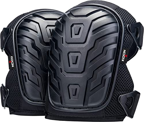 NoCry Professional Knee Pads with Heavy Duty Foam Padding and Comfortable Gel Cushion, Strong Double Straps and Adjus...